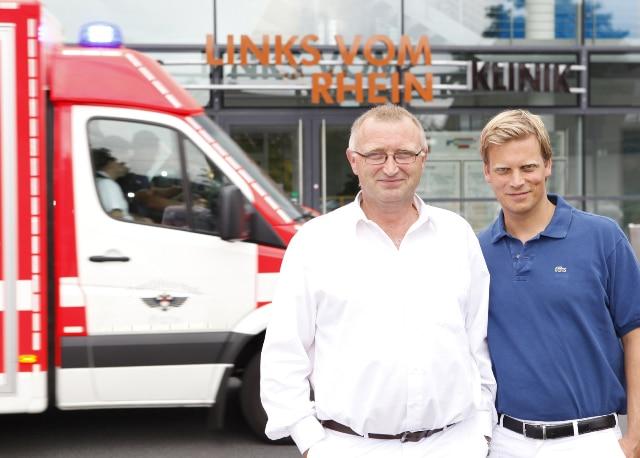 Haben sich das Schnarchen zur Berufung gemacht: Dr. med. Stephan Leuwer und Dr. med. Gero Quante, Klinik LINKS VOM RHEIN. - copyright: Klinik LINKS VOM RHEIN