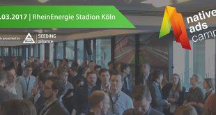 Native Ads Camp 2017:Treffpunkt für die digitale Werbebranche am 30. März 2017 im RheinEnergieSTADION Köln - copyright: Seeding Alliance