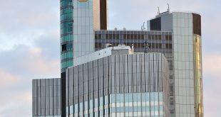 Der Commerzbank-Tower in Frankfurt am Main. - copyright: Vytautas Kielaitis – 471616337 / Shutterstock.com