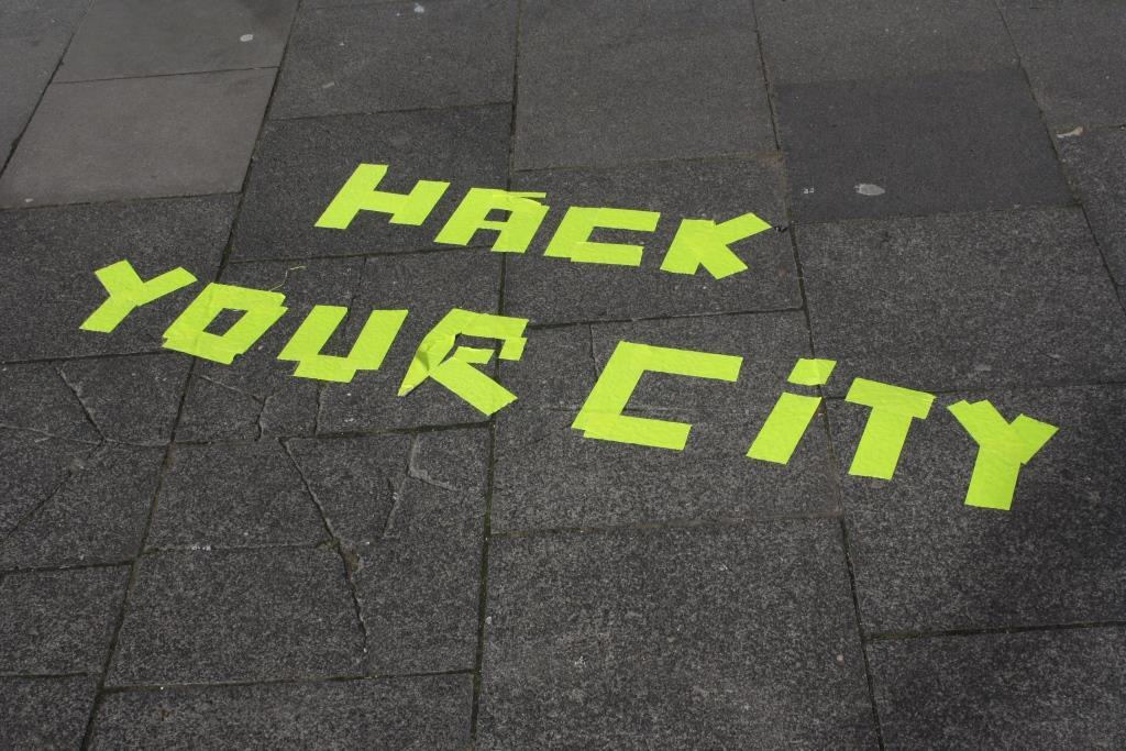 """Das Stadtlabor """"Hack your City"""" war nicht zu übersehen. - copyright: Die Wirtschaft Köln / Christian Esser"""