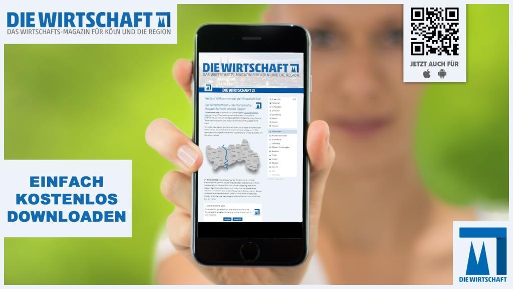 Jetzt die Wirtschaft Köln App kostenlos downloaden