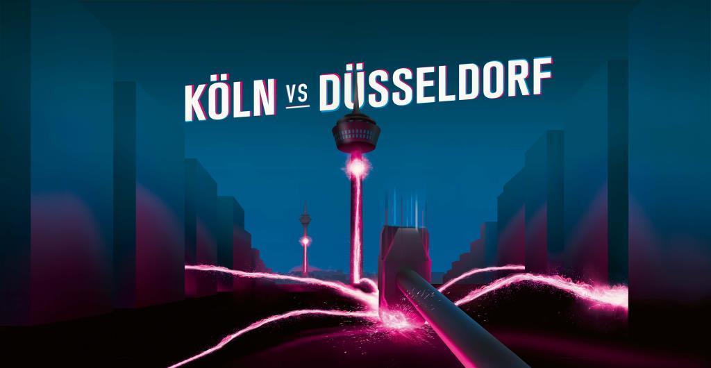 Köln vs. Düsseldorf: Funktürme erstrahlen beim Digital Derby - copyright: Deutsche Telekom AG