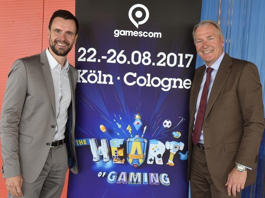 Felix Falk, Geschäftsführer BIU und Gerald Böse, Vorsitzender der Geschäftsführung der Koelnmesse - copyright: Koelnmesse GmbH, Thomas Klerx