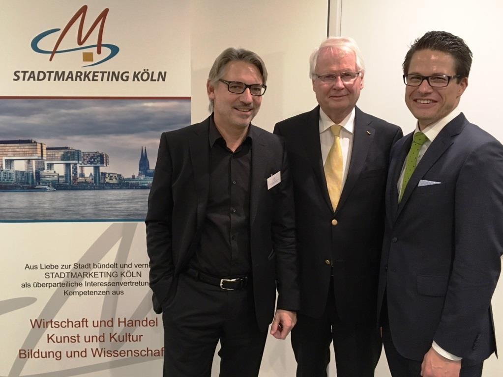Die Führungsriege von Stadtmarketing: Dr. Günter Lewald, Helmut Schmidt und Martin Stockburger (v.l.n.r.) - Foto: Stadtmarketing Köln