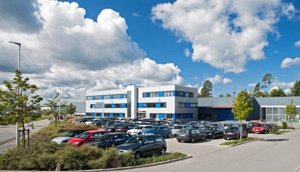 Die Firmenzentrale in Pfalzgrafenweiler - Fertigungsstandort für zukunftsweisende Verpackungstechnologie. - copyright: KOCH Pac-Systeme