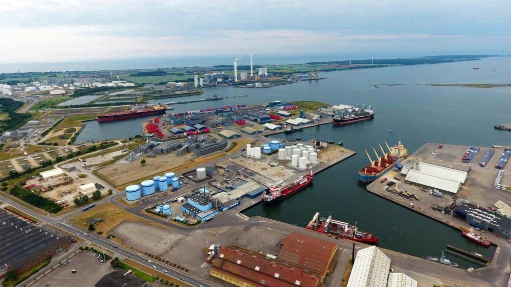 Hafen Kalundborg von oben copyright: Kalundborg Havn