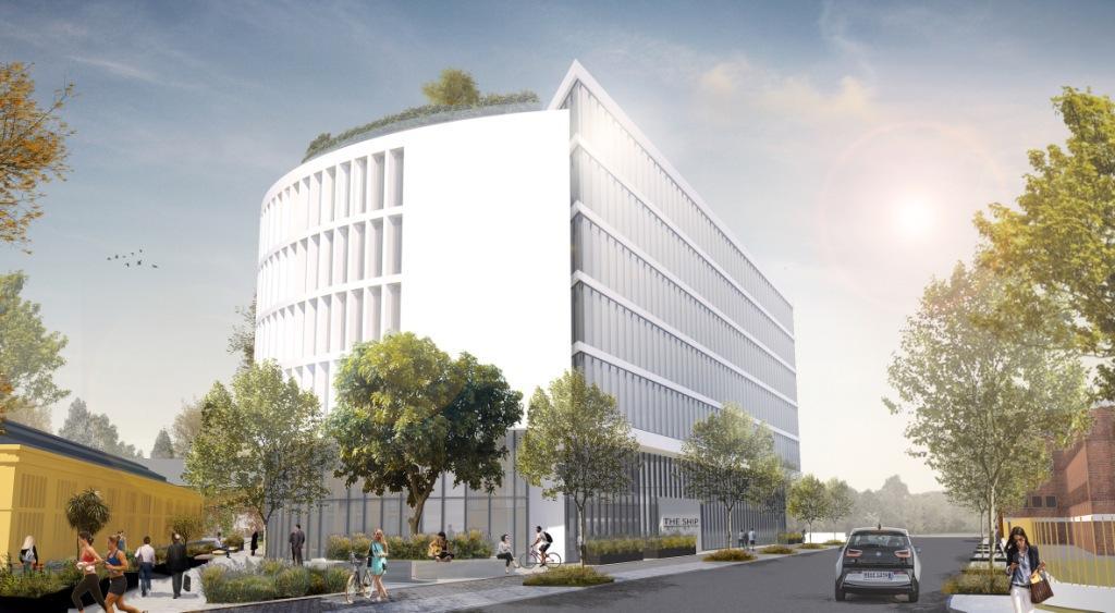 Der Neubau wird sieben Etagen haben. copyright: The Ship