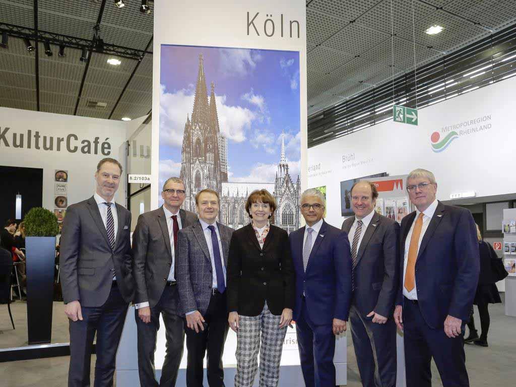 Gemeinsam mit den Rhein-Städten Bonn und Düsseldorf präsentiert sich Köln auf der ITB 2019 in Berlin copyright: KölnTourismus GmbH / Reiner Zensen