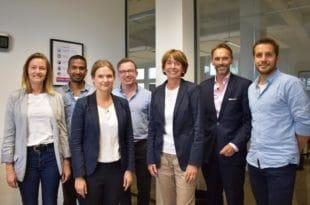 Kölns Oberbürgermeisterin henriette Reker besuchte verschiedene Startups. copyright: KölnBusiness / Marie-Astrid Reinartz