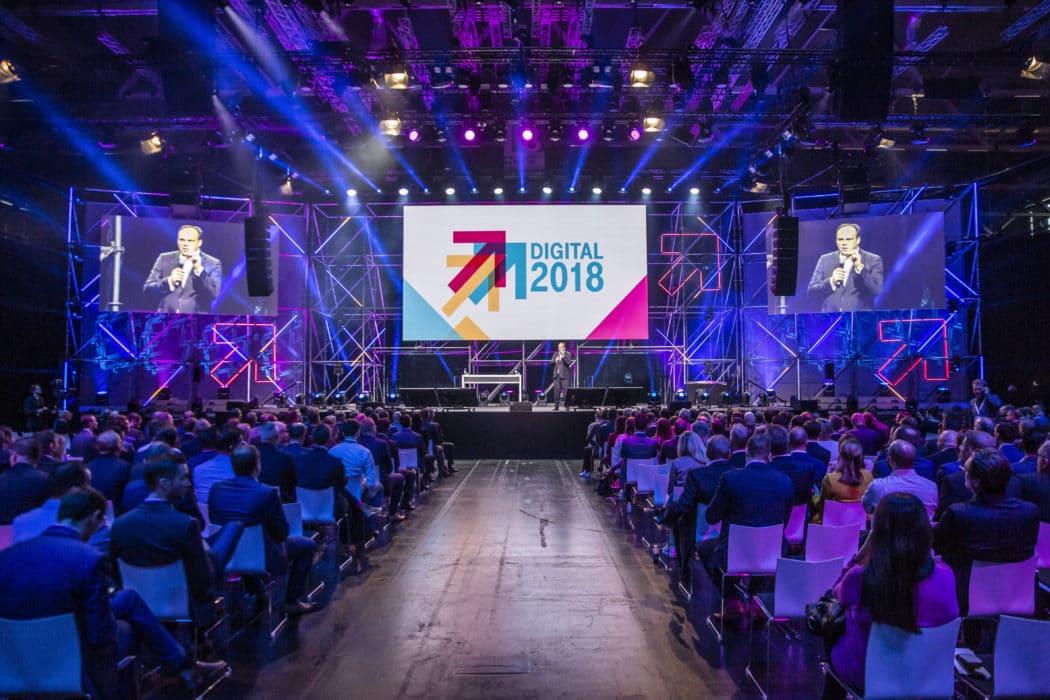 Im November 2018 nahmen bereits 8.000 Marktführer und Visionäre an der DIGITAL X teil, 2019 werden in Köln 20.000 Besucher erwartet. Copyright: Deutsche Telekom