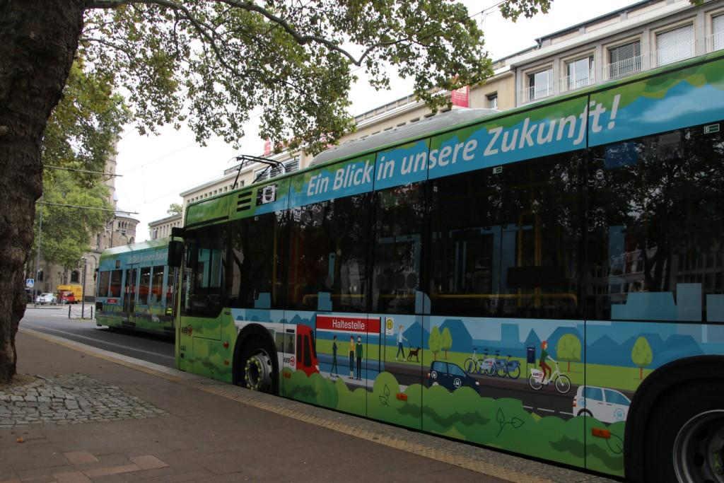 Die KVB plant, durch verschiedene Maßnahmen den Ausstoß von CO2 weiter zu reduzieren und so zum Klimaschutz beizutragen. Credit: Stephan Anemueller / Kölner Verkehrs-Betriebe AG
