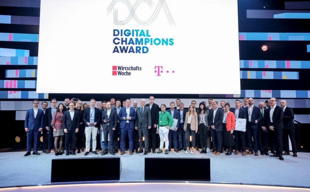 Mit dem Digital Champion Award wurden herausragende Digitalisierungsprojekte des Mittelstandes gewürdigt. Credit: Deutsche Telekom / Digital X