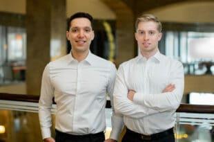 Dr. Maxim Gleser und Ibrahim Bölükbas, Geschäftsführer der ZIMTIO AG, beraten und betreuen KMUs bei der Beantragung von Fördermitteln. copyright: Eugen Gleser